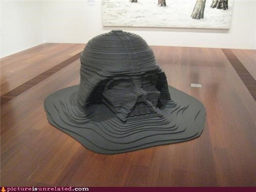 darth vader,melting,sculpture,wtf