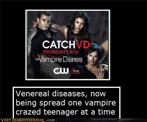 hilarious TV Vampire Diaries VD venereal diseases - 5025641216