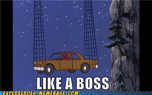 car Like a Boss Spider-Man Super-Lols web