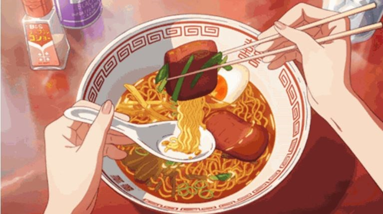 Delicious looking japanese anime food gifs. food porn.
