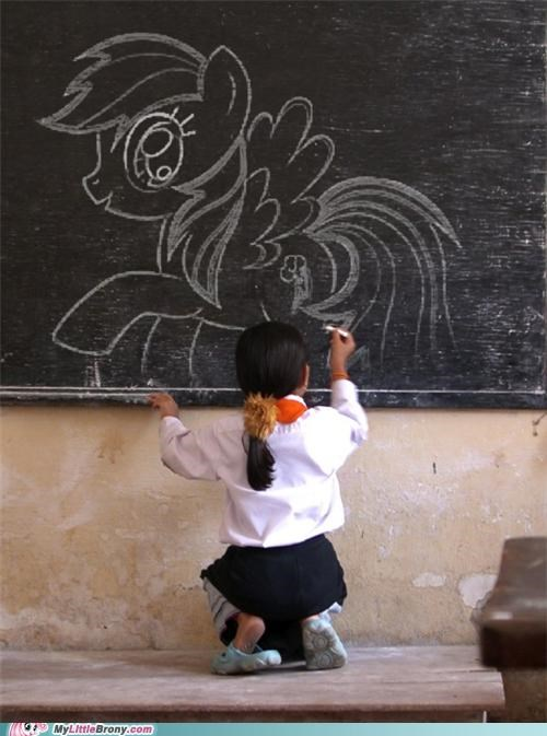 chalk draw IRL school - 5025828864