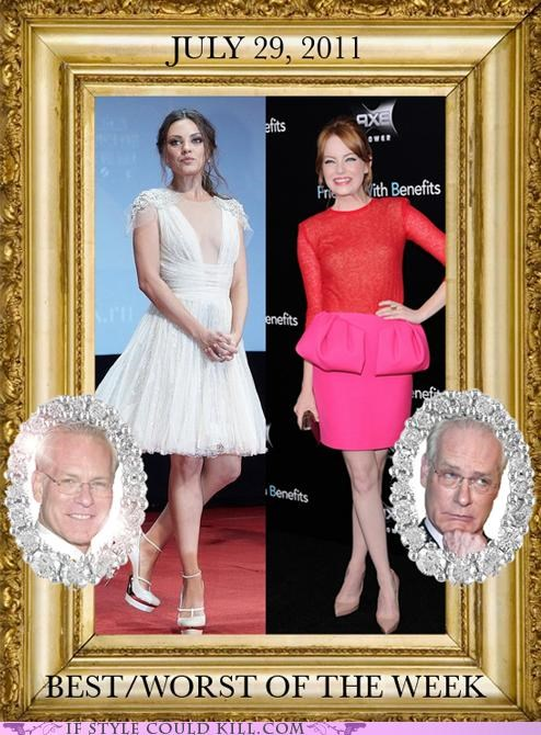 bestworst-of-the-week celeb cool accessories emma stone mila kunis premiere Tim Gunn - 5026023424