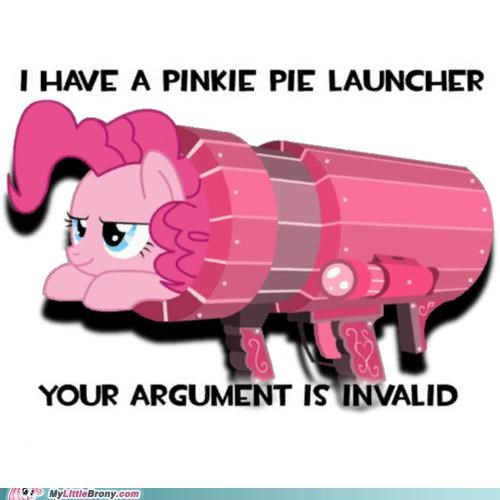 argument is invalid gun launcher pinkie pie - 5026080512