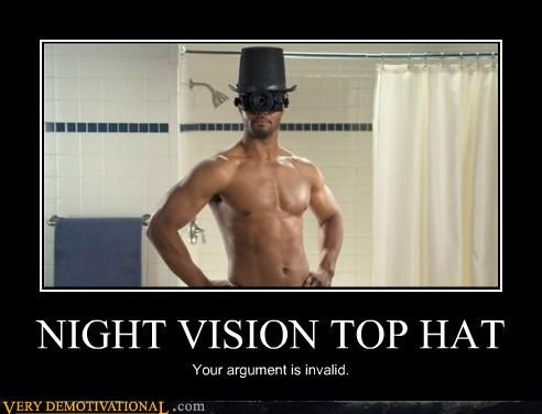 Invalid Argument Isaiah Mustafa night vision Pure Awesome top hat - 5026132736