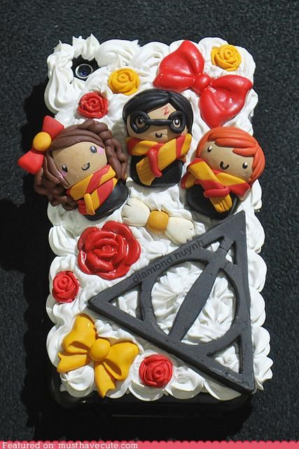 bows case cover deathly hallows flowers Harry Potter iphone - 5026299904