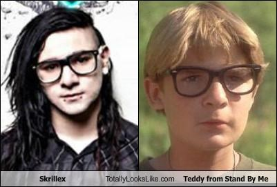 actors bad music bcg bcgs black framed glasses corey feldman electronic music glasses Hall of Fame hipsters skrillex stand by me teddy - 5026372352