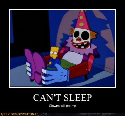 clowns,scary,simpsons,Terrifying