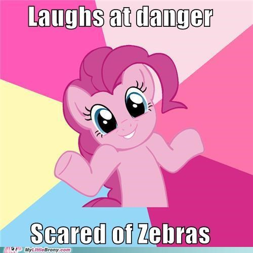 danger,pinkie pie,scared,zebra,zecora