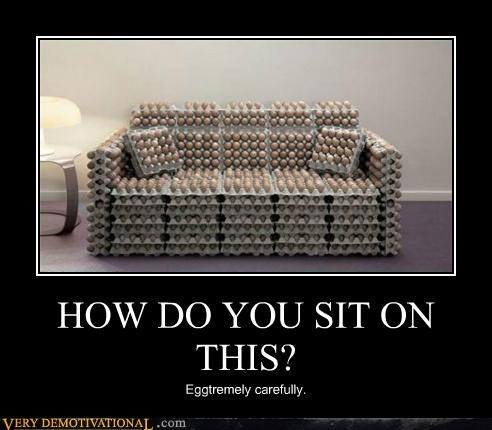 couch eggs furniture hilarious sit wtf - 5026745088