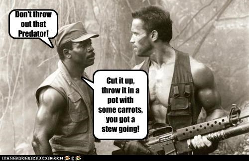actor Arnold Schwarzenegger Carl Weathers celeb funny Hall of Fame Predator - 5026811136