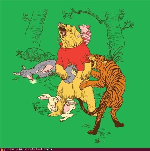 bear,piglet,tigger,winnie the pooh,wtf