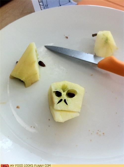 apple core evil face Harry Potter voldemort - 5027431680