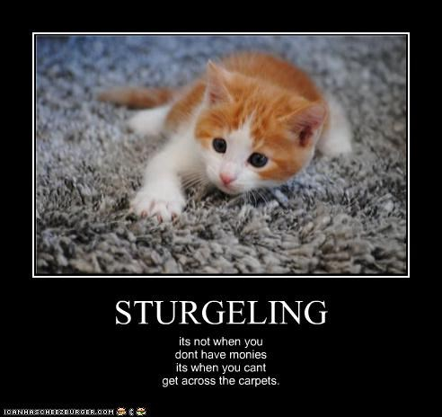 STURGELING its not when you dont have monies its when you cant get across the carpets.