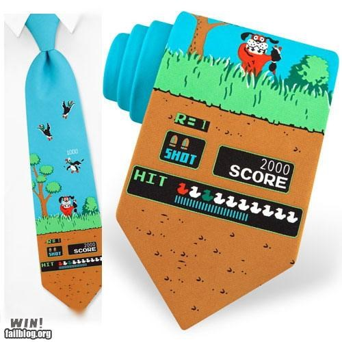 duck hunt nerdgasm NES that damn dog tie - 5027493376