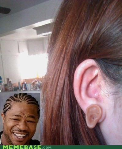 earrings ears hear heard yo dawg - 5027551744