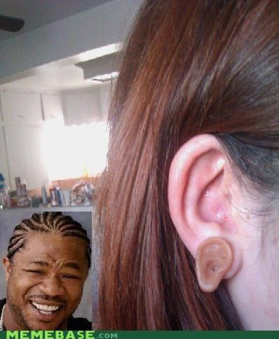 earrings ears hear heard yo dawg - 5027551744