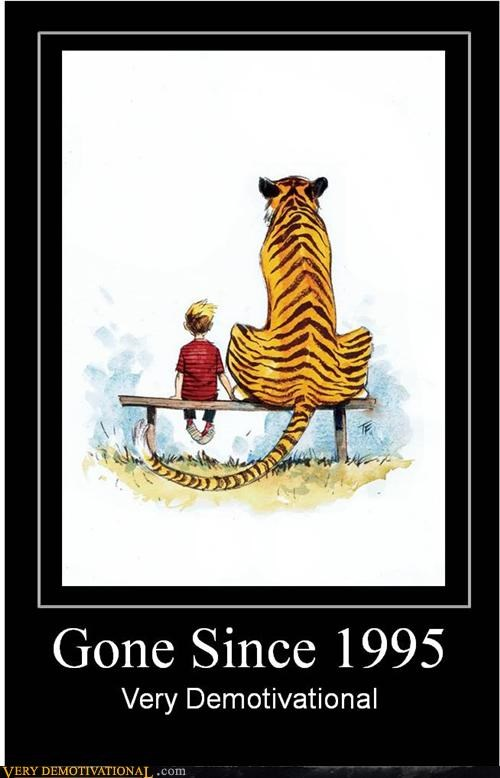 calvin-hobbes comic demotivational Hall of Fame Sad