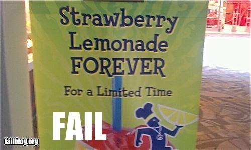the promise of strawberry lemonade forever...oh wait.
