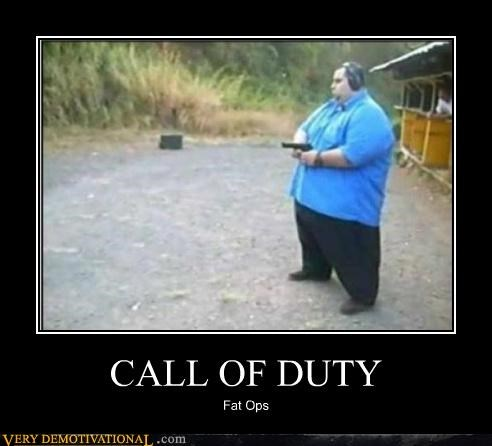 call of duty fat guy guns hilarious video games - 5027578112
