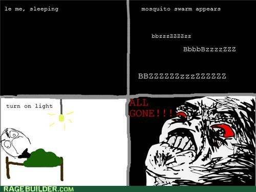 dark,gone,light,mosquitos,Rage Comics,sleeping,swarm