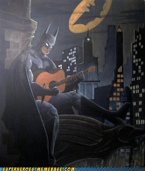 Awesome Art batman guitar wtf - 5027668224