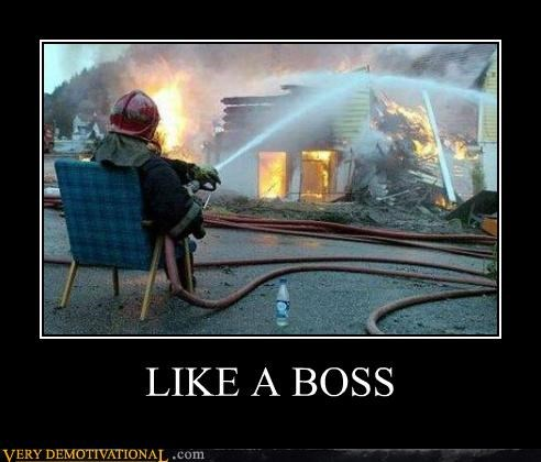 chair fireman hose Like a Boss Pure Awesome