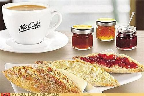 baguette bread breakfast coffee france jam McDonald's - 5027728128