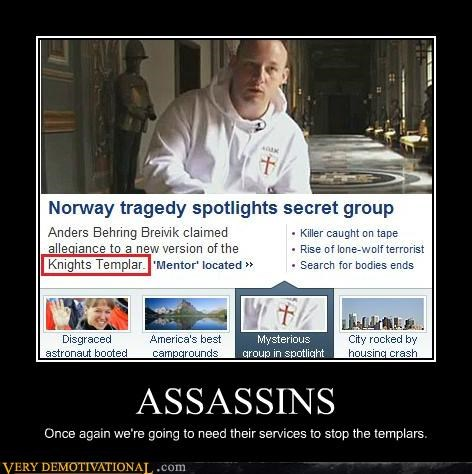 assassins creed hilarious Norway templars tragedy