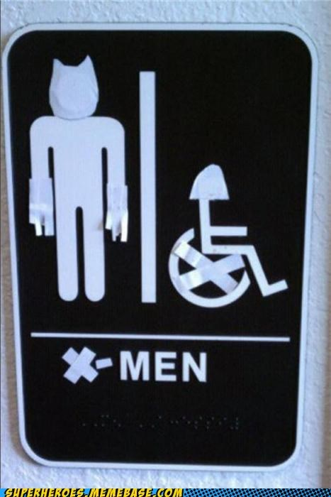 bathroom professor x Random Heroics wolverine x men - 5027789824