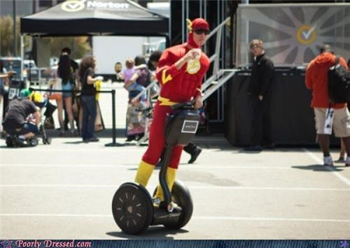cosplay,costume,segway,superheroes,the flash