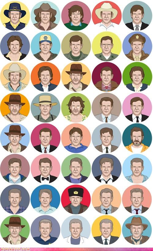 actor art awesome celeb cool cowboys and aliens funny Harrison Ford