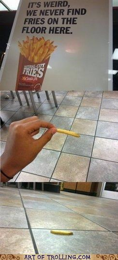 carls jr floor fries IRL