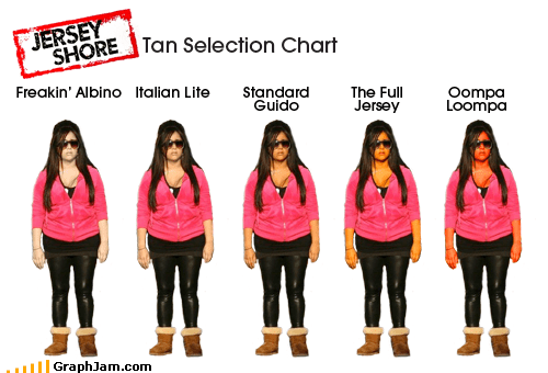 celeb jersey shore snooki tan