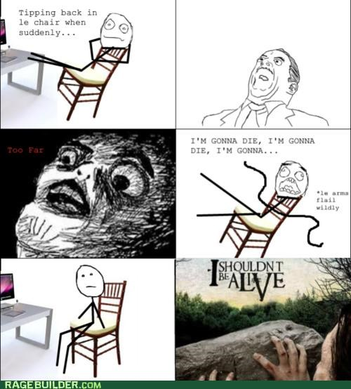 chair fall i-shouldnt-be-alone Rage Comics raisin face scary - 5028025856