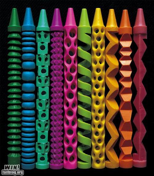 carving crayon creative