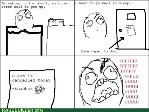 canceled class door fu guy note Rage Comics school - 5028145152