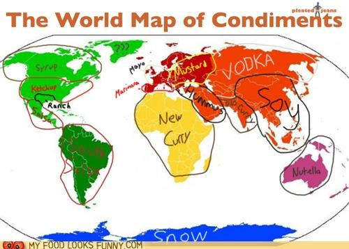 condiments flavor map seasoning stereotypes world map - 5028206848