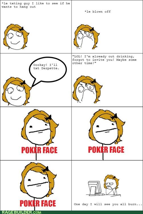 blown off burn forever alone loser poker face Rage Comics scary - 5028272128