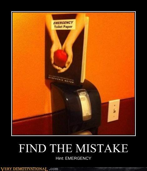 bathroom emergency hilarious mistake toilet paper twilight - 5028280576