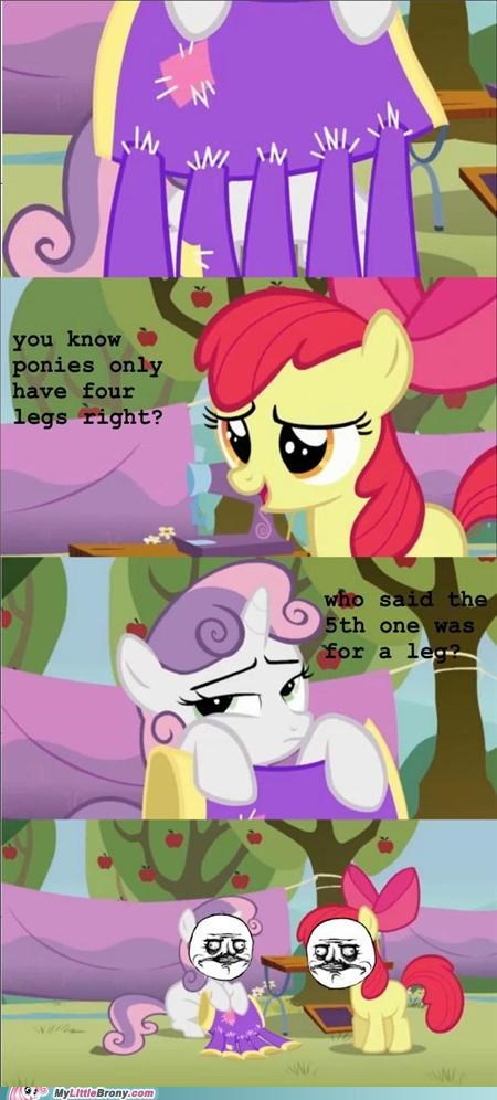 apple bloom comic legs peen sew Sweetie Belle - 5028349440