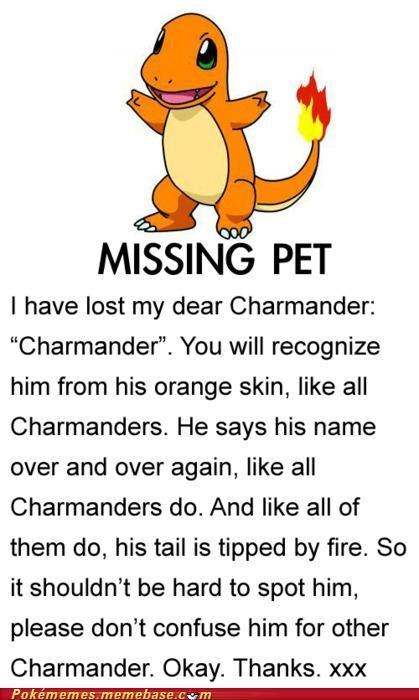 charmander lost Pokémans poster - 5028470016