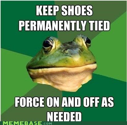 foul bachelor frog,not,shoes,slip,slipknot,tie