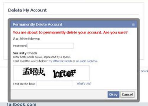 captcha,chinese,delete account,wtf