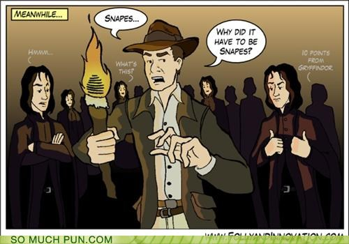 Hall of Fame Harry Potter Indiana Jones literalism quote similar sounding snake snakes snape - 5028667648
