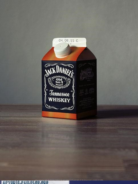 jack daniels marketing milk box whiskey - 5028838400