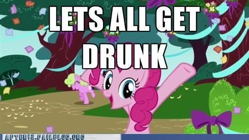drunk,my little pony,out of control,pinkie pie