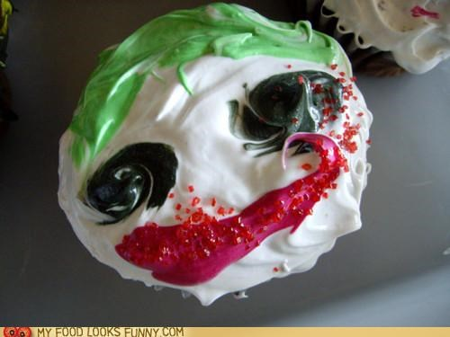 batman cupcake face frosting joker - 5029284096