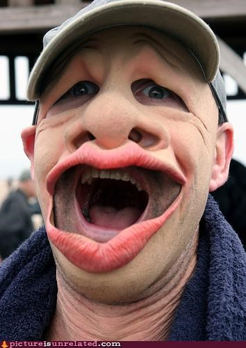 eww face gross mask teeth wtf - 5029786624
