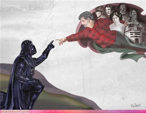 art cool darth vader george lucas Hall of Fame sci fi star wars - 5029827840