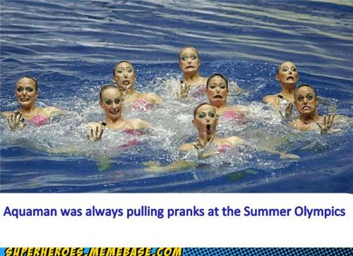 aquaman olympics pranks Random Heroics synchronized swimming - 5031142144